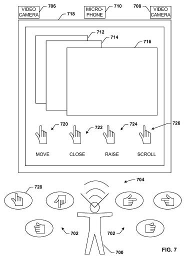 Hand Gesture Options Microsoft Patent