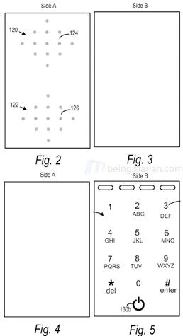 dual sided dynamic screen remote control